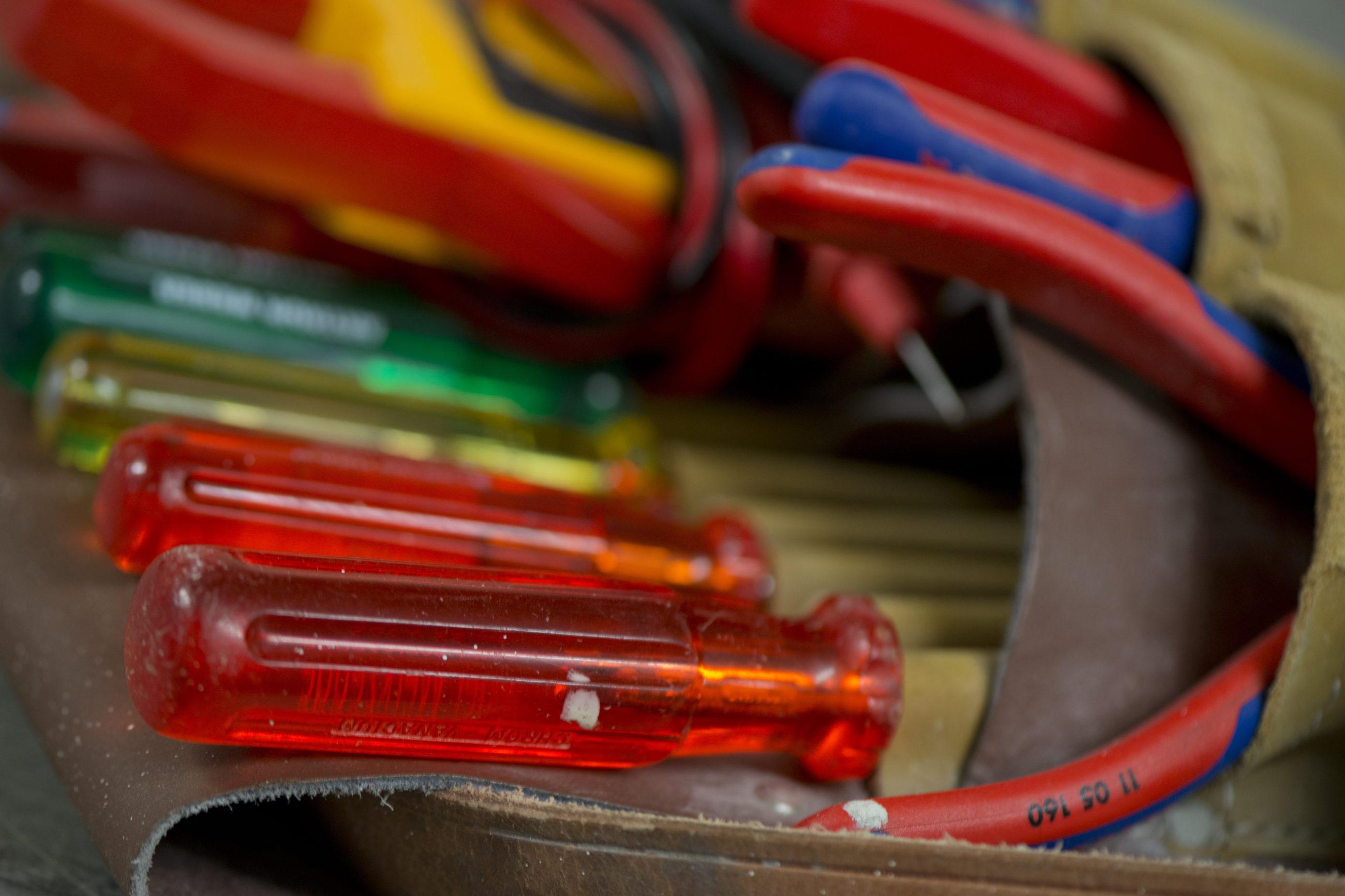 Werkzeug eines Elektroinstallateurs